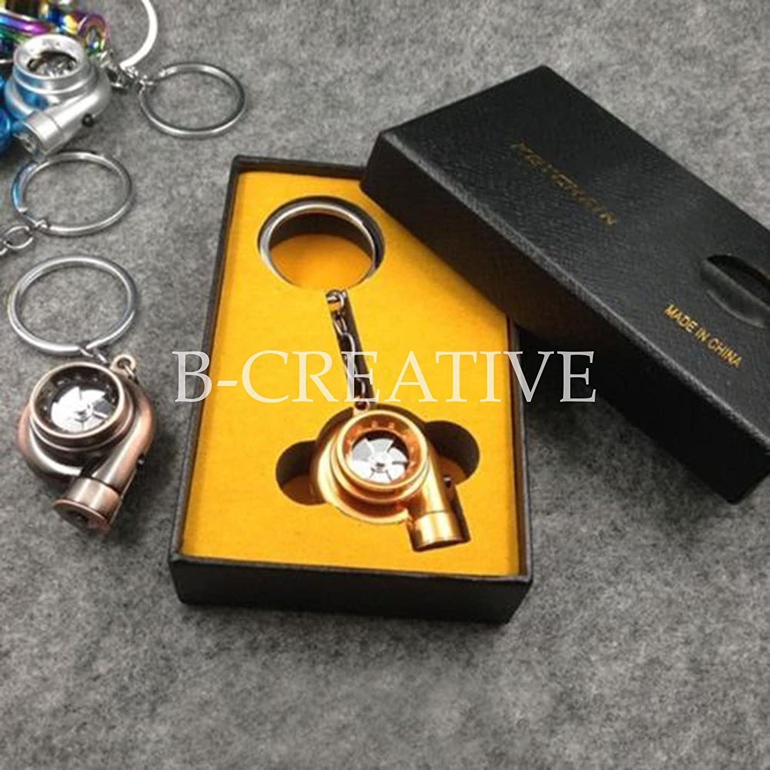 Turbo Charger Keyring L.E.D Torch,Spin,Sound Retail Box,