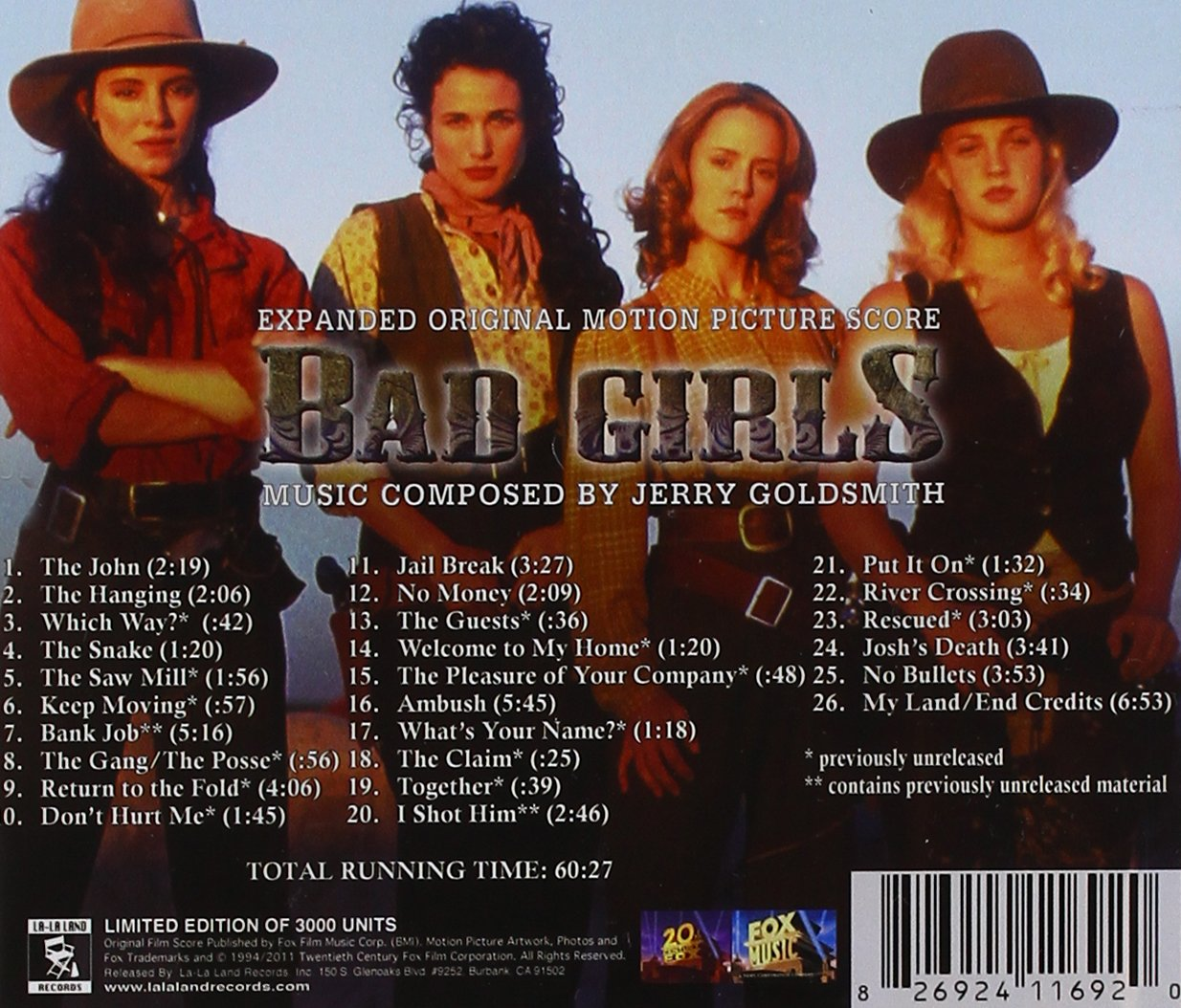 Image result for bad girls jerry goldsmith