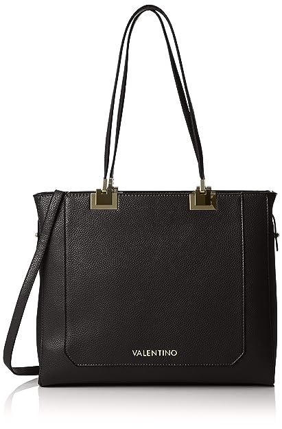 b37f03edd881 Valentino by Mario Valentino Womens VBS29V01 Anice Tote Black (NERO ...