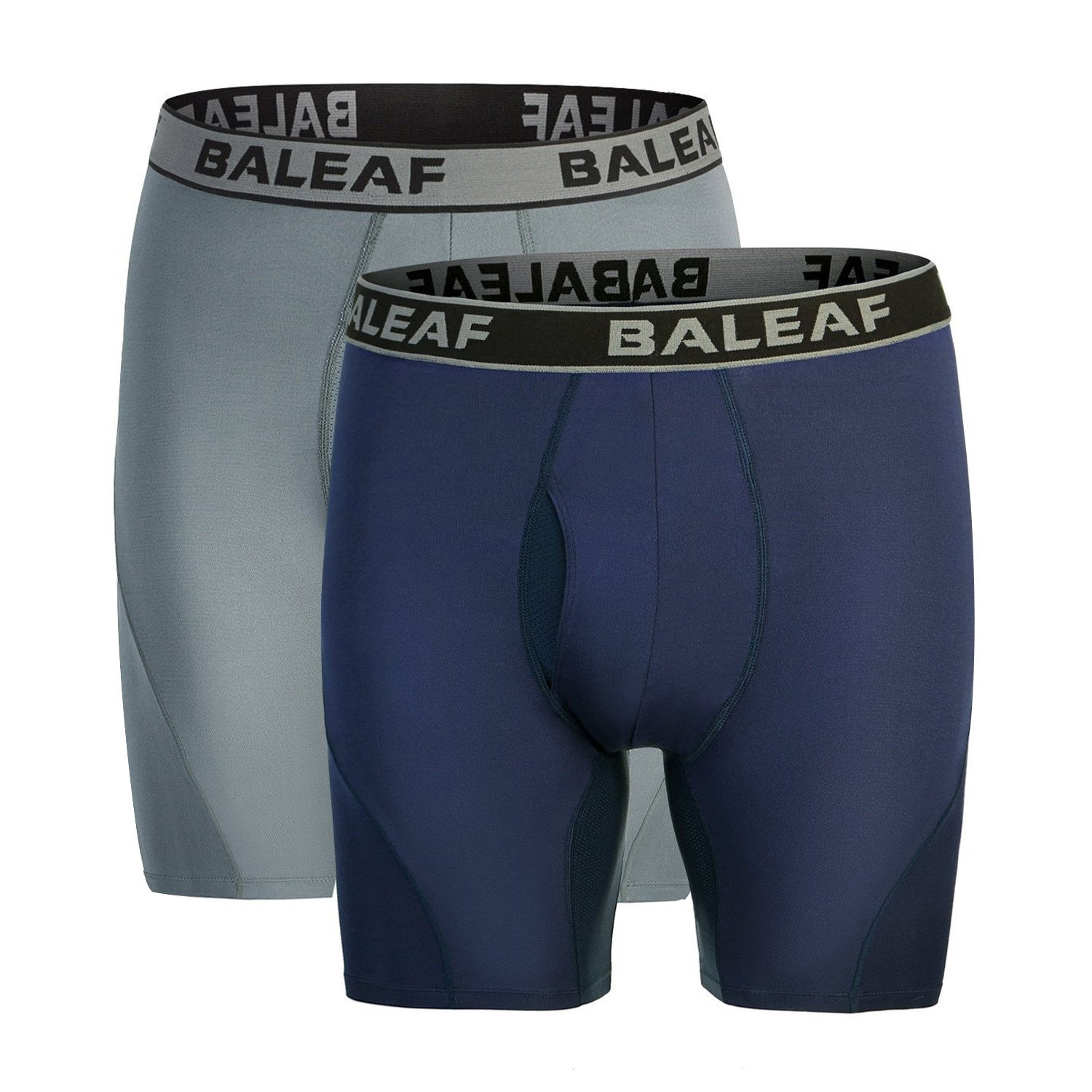 Baleaf Men's 6 Sport Boxer Briefs Performance Underwear (2-Pack) Baleafabd1860904216ma