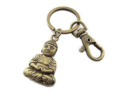 Llavero de Buda con diseño de Buda y llavero de yoga, boho ...
