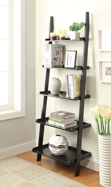 Amazon: Convenience Concepts American Heritage Bookshelf Ladder, Black:  Kitchen & Dining