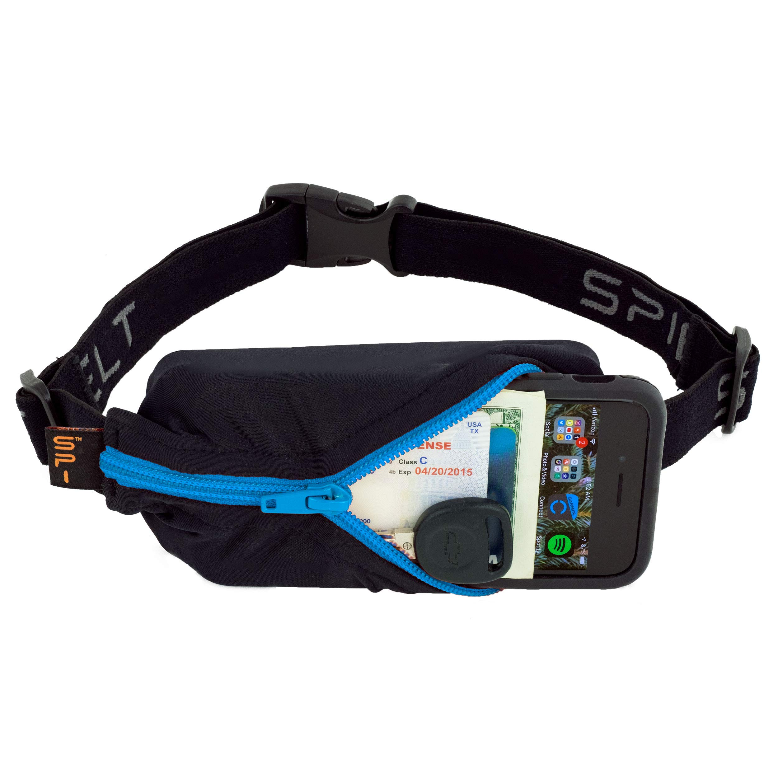 SPIbelt Sports/Running Belt: Original - No-Bounce Running Belt for Runners, Athletes and Adventurers - Fits iPhone 6 and Other Large Phones, Turquoise Zipper by SPIbelt