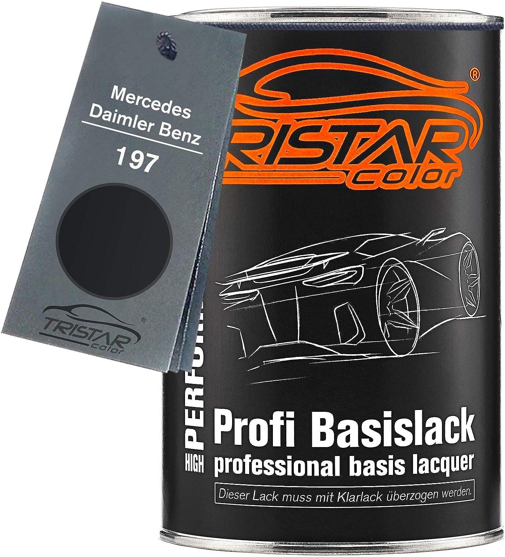 Tristarcolor Autolack Dose Spritzfertig Für Mercedes Daimler Benz 197 Obsidianschwarz Metallic Basislack 1 0 Liter 1000ml Auto