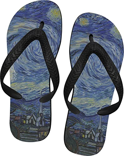 0d08e104515 The Starry Night (Van Gogh 1889) Flip Flops - XSmall Blue