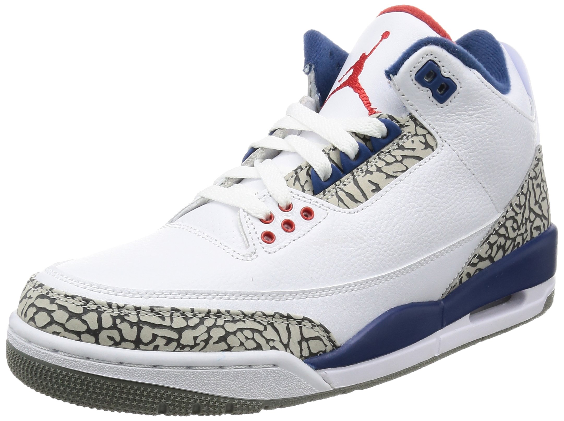 Nike Men's Air Jordan 3 Retro OG White/Fire Red-true Blue-cement Grey - 7 D(M) US by NIKE
