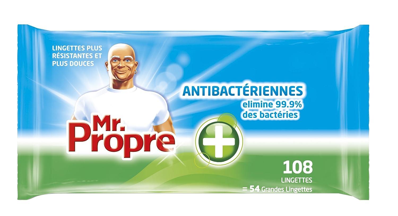 Bien-aimé Mr. Propre - Lingettes Nettoyantes Multi-Usages Antibactériennes x  VL06