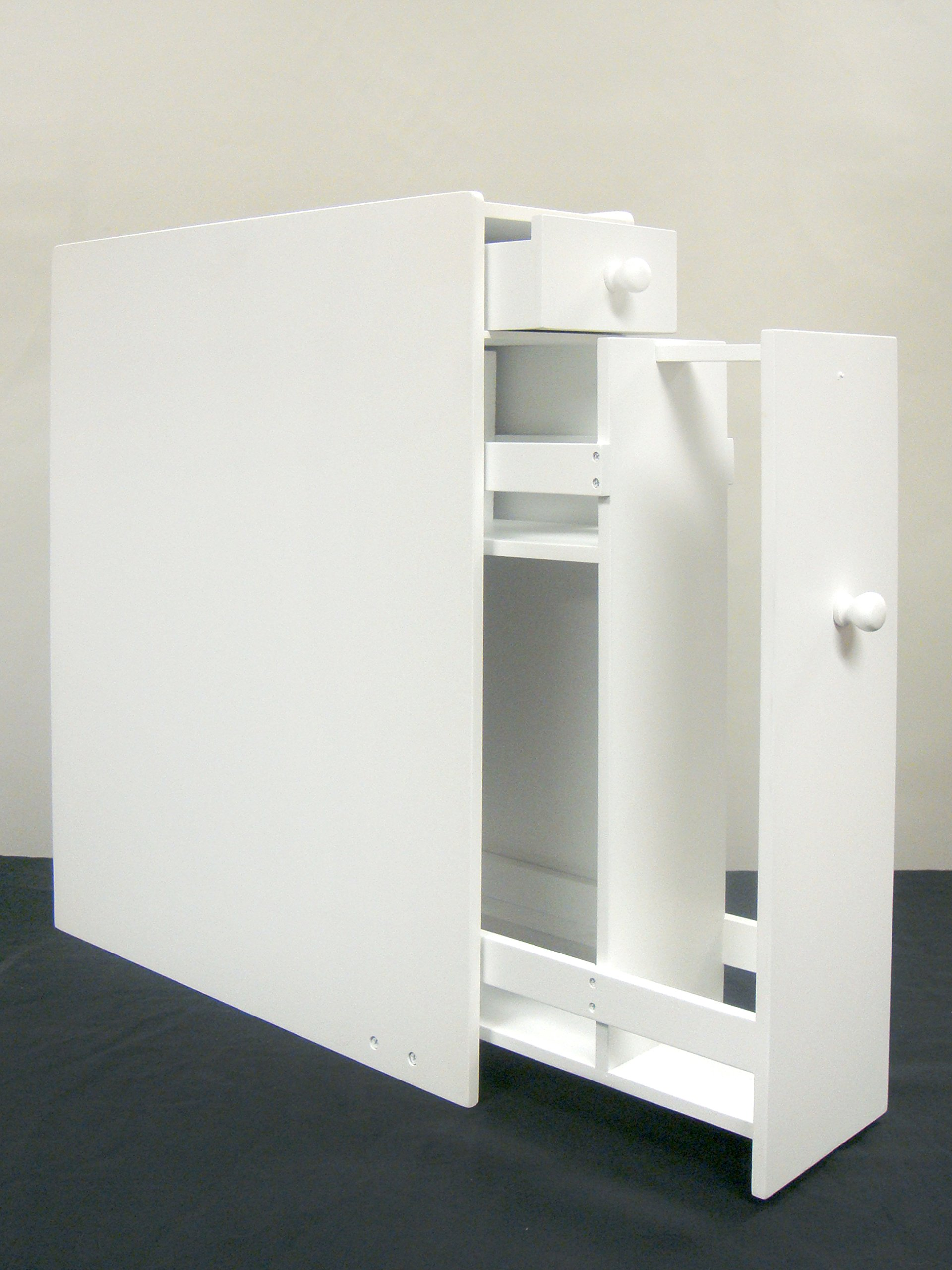 Proman Products Bathroom Floor Cabinet Wood in Pure White by Proman Products (Image #7)