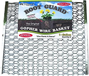 Digger's Original Root Guard 1-Gallon Heavy Duty Gopher Wire Baskets (12-pack) – Oversized Gopher Baskets For Extra Protection – Effective Gopher Repellent For Perennials, Berries, & Vegetables