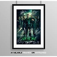 Arrow Full Cast Signed Autograph Signature A4 Poster Photo Print Photograph Artwork Wall Art Picture TV Show Series Season DVD Boxset Present Birthday Xmas Christmas Memorabilia Gift