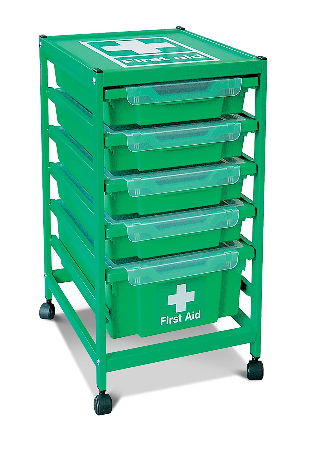First Aid Trolley, Grass Green Gratnells Ltd 401 FA