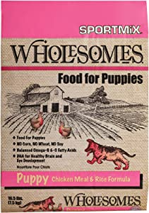 Wholesomes Puppy Chicken Meal & Rice Dry Dog Food, Brown, 16.5 lbs. (2100087)