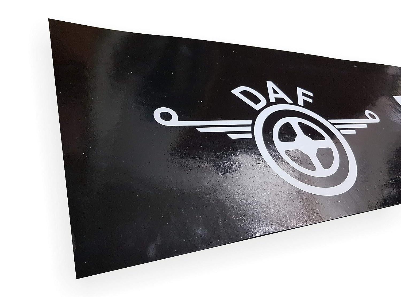 1 St/ück Strapazierf/ähige Gummi-Schutzbleche mit Aufschrift f/ür LKW Anh/änger altes Logo 240 x 35 cm