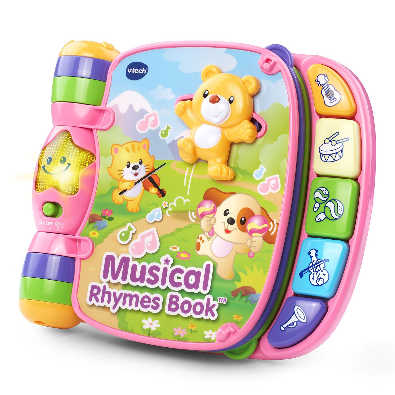 VTech Musical Rhymes Book Amazon Exclusive, Pink