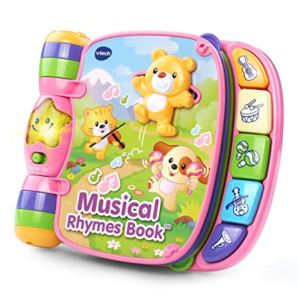 9bec63aca2c Amazon.com  VTech Musical Rhymes Book, Pink  Toys   Games