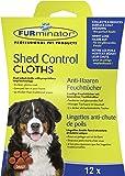 FURminator Shed Control Cloths Anti-Haaren Feuchttücher für Hunde, Fellpflege entfernt lose Tierhaare vom Hundefell sowie Kleidung und Möbeln