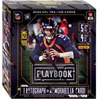 $54 » NFL Panini 2020 Playbook Football Trading Card MEGA Box [4 Packs, 1 Autograph OR Memorabilia…