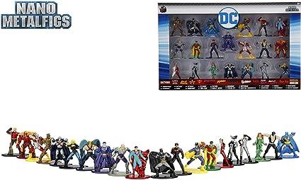 Nano metalfigs DC COMICS die cast metal figures Superman Batman Jada 5 Pack B