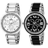 SWISSTYLE Analogue Black Dial Combo Of Women's Watch (Ss-703Bb-703Wb)