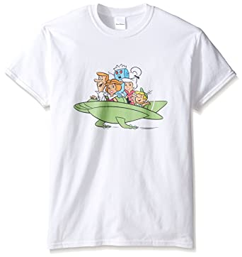 a38a0ea4 Amazon.com: The Jetsons Men's Family Space Car T-Shirt: Clothing