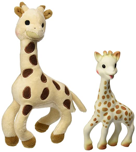 Vulli Sophie Giraffe Set (Soft Toy and Natural Rubber)