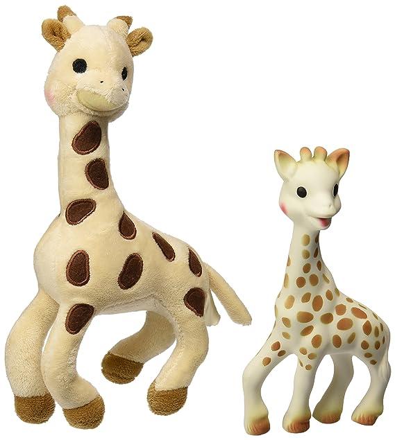 Keel Toys SNUGGLE GIRAFFE 26cm Sitting BABY Soft Toy BEIGE Natural