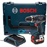 Bosch Professional GSB 18V-LI-DS Cordless Combi Drill with 18 V 4.0 Ah Lithium-Ion Wireless Charging Battery - L-Boxx
