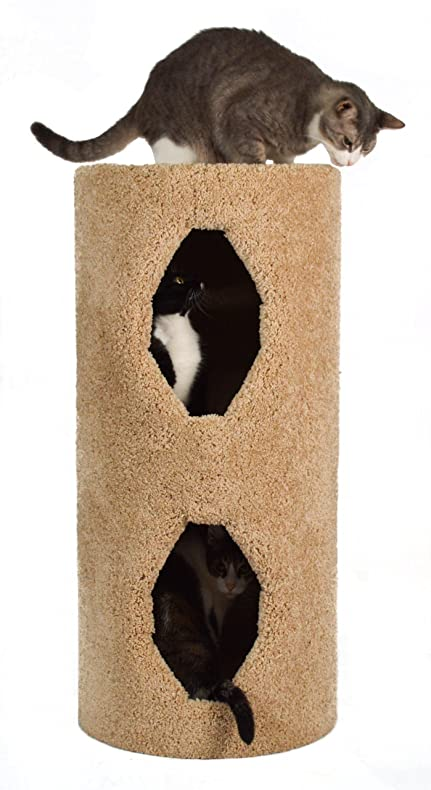 Molly And Friends 2 Story Condo Premium Handmade Cat Tree, Beige