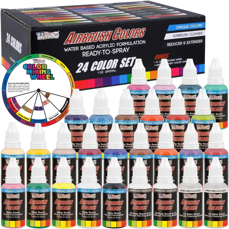 U.S. Art Supply 24 Color Acrylic