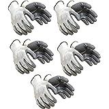 SAFEYURA Nylon Industrial Safety Hand Gloves (Pair 5, Grey)