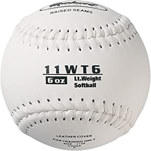 Markwort Color Coded Weighted 11-Inch Softball (6-Ounce, White)