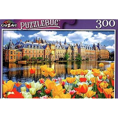 Binnenhof Dutch Parliament, Netherlands - 300 Pieces Jigsaw Puzzle: Toys & Games