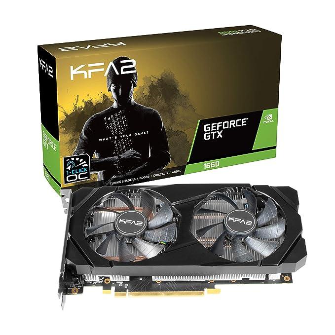 KFA2 60SRH7DSY91K - Tarjeta gráfica (GeForce GTX 1060, 6 GB, GDDR5, 192 bit, PCI Express x16, 2 Ventilador(es))