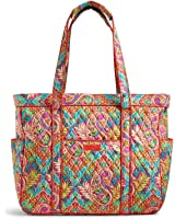 Vera Bradley Get Carried Away Tote Paisley In Paradise