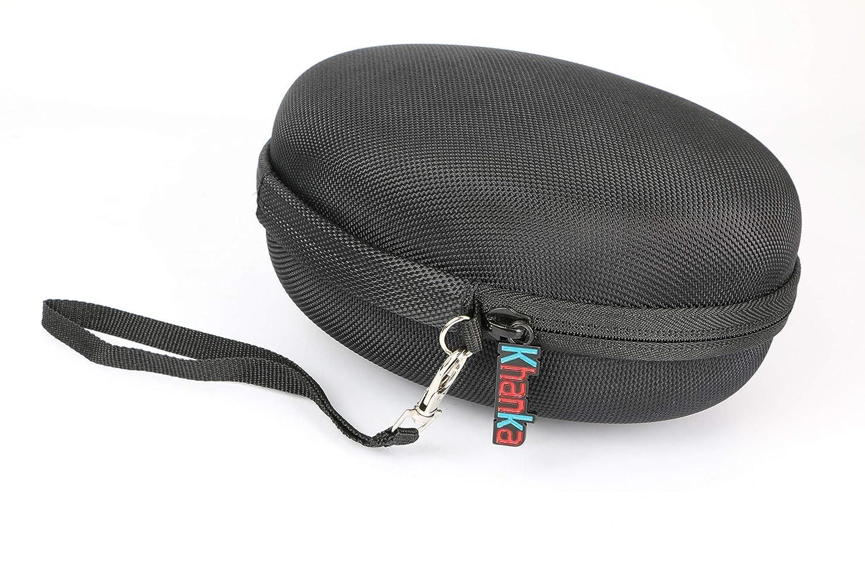Khanka Duro Viaje Estuche Bolso Funda para COWIN SE7 Auriculares inal/ámbricos Bluetooth Red Zipper