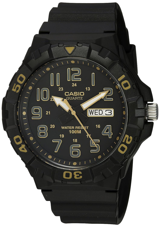 Amazon.com: Casio Mens Diver Style Quartz Resin Casual Watch, Color:Black (Model: MRW-210H-1A2VCF): Watches