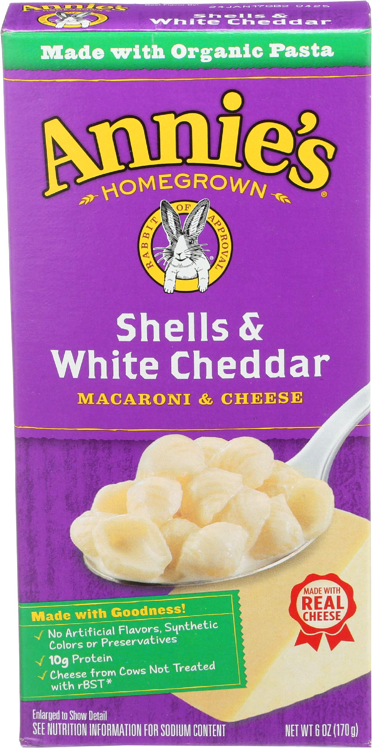 Annie's Homegrown Macaroni & Cheese - Shells & White Cheddar - 6 oz
