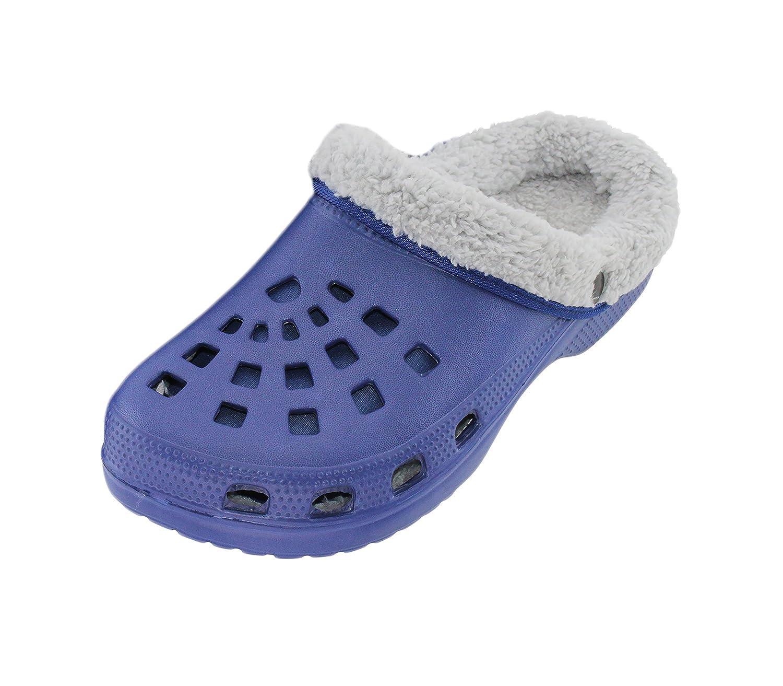 Hombre Zuecos Guantes Jardín Casa forrados Slipper–Zapatillas Azul Gris Azul Turquesa Marrón
