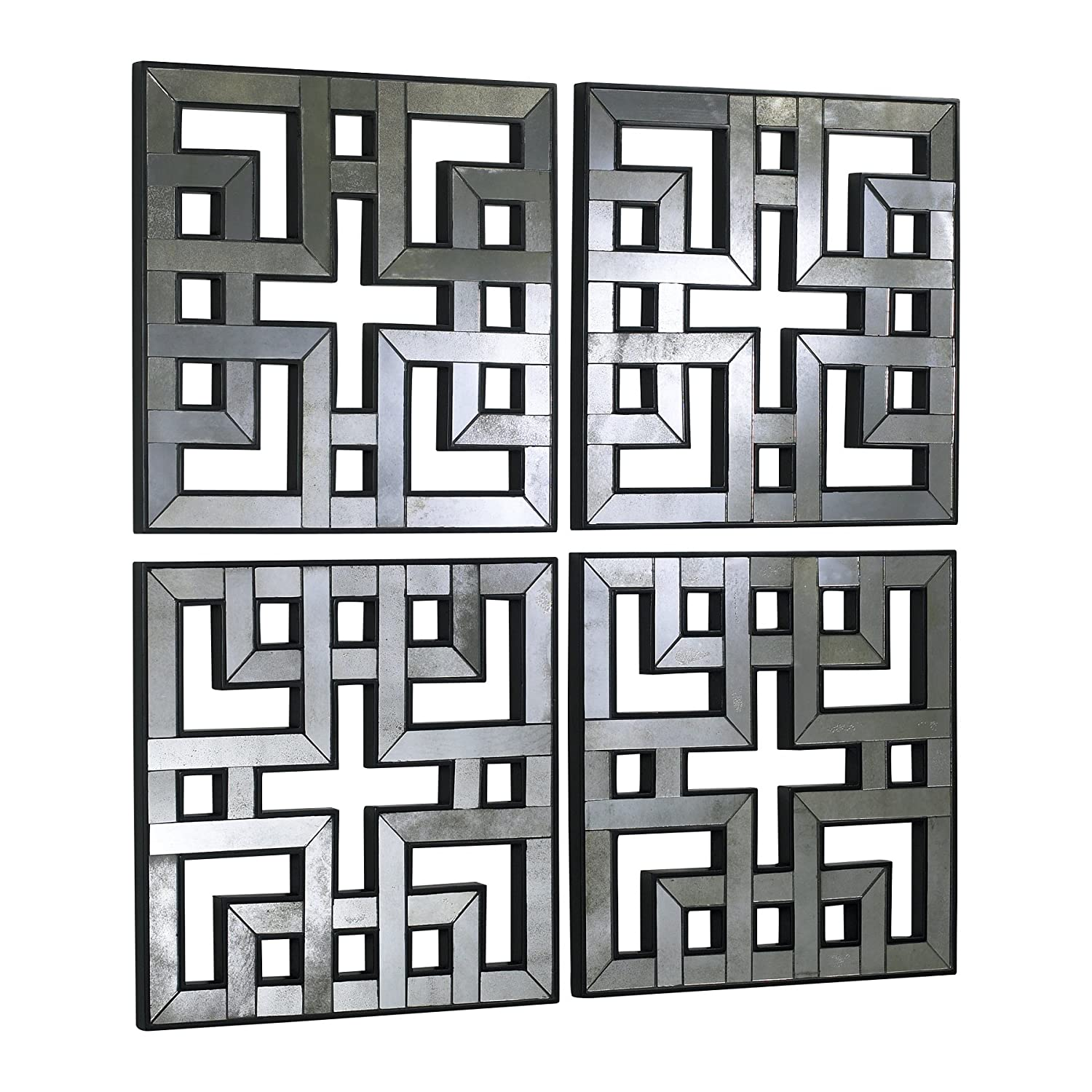 Amazon Square Fretwork Wall Mirrors Modern Panels Set Of 4