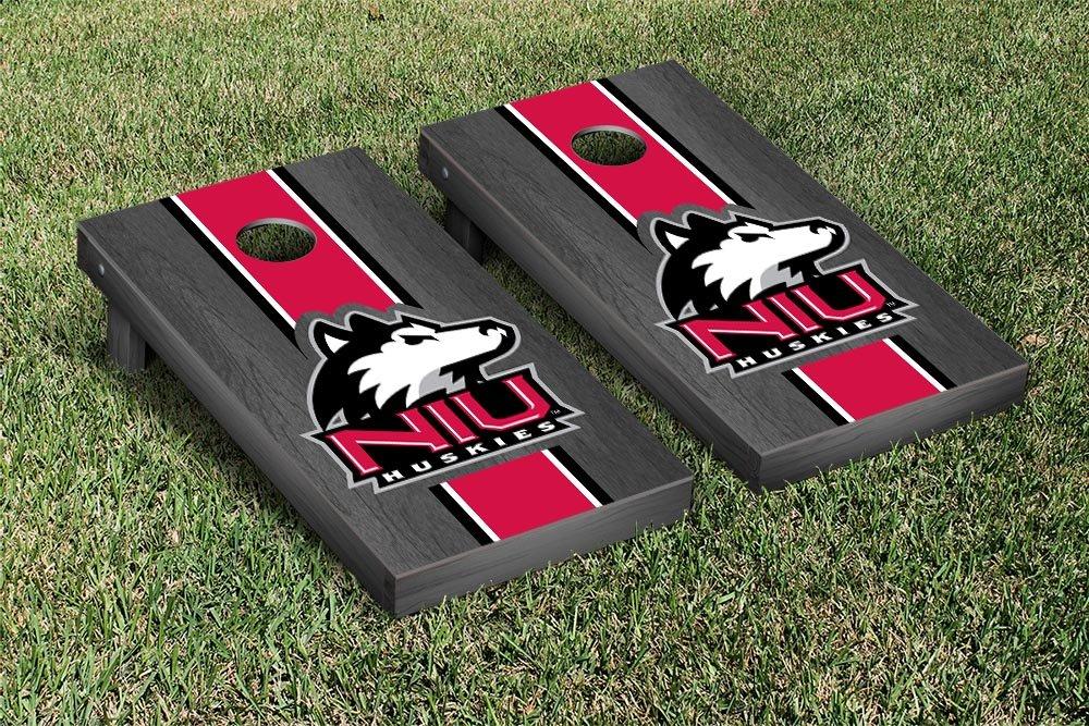 Northern Illinois University Huskies Cornhole Game Set B00P9JVWH2 オニキス 染色 ストライプ バージョン