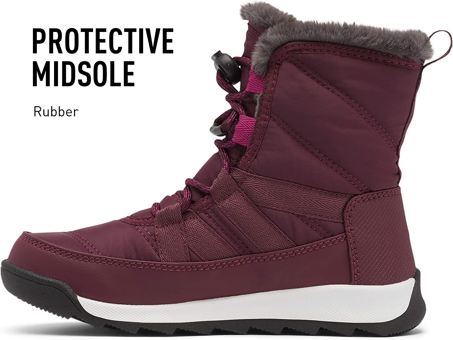 Waterproof Sorel Youth Whitney II Short Lace Boot for Snow