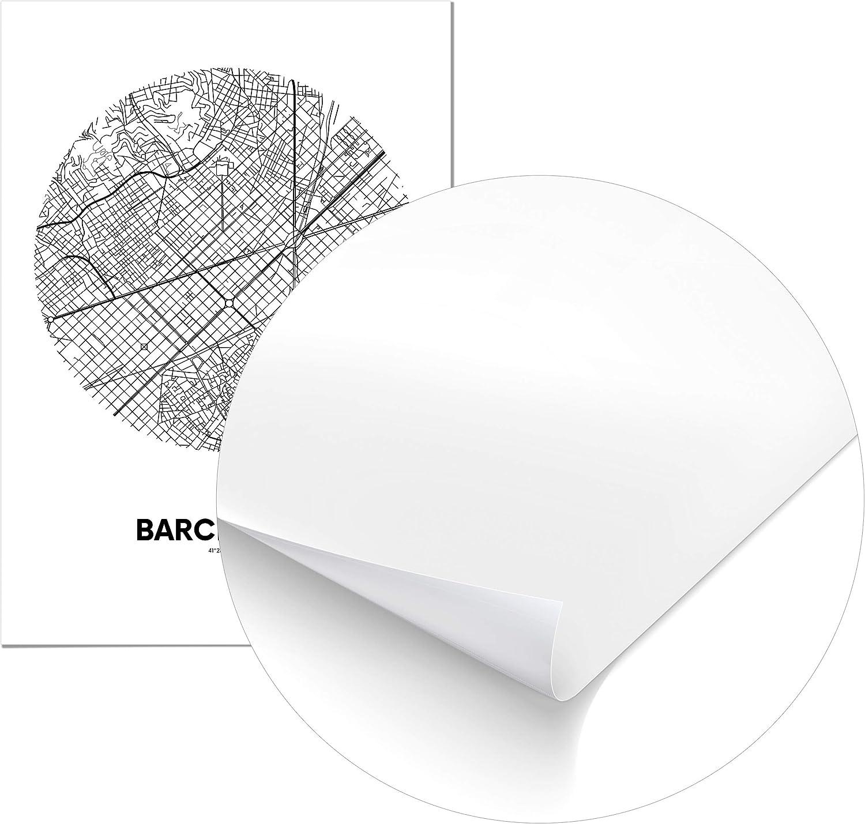 Panorama® Póster Mapa Círculo de Barcelona 21 x 30 cm - Impreso en Papel 250gr - Póster Pared - Cuadros Decoración Salón y Dormitorio - Póster Decorativos - Cuadros Modernos: Amazon.es: Hogar