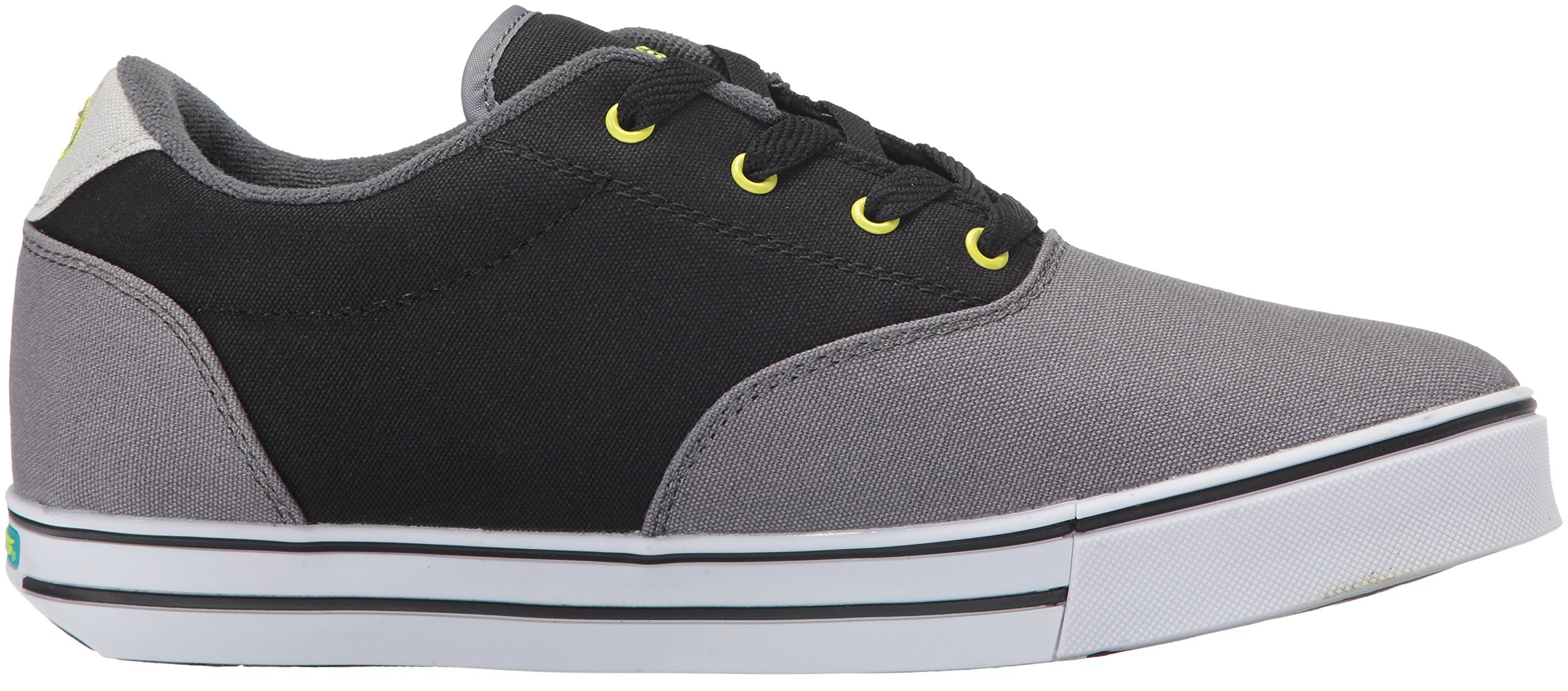 Heelys Men's Launch Fashion Sneaker Charcoal/Black/Lime 10 M US by Heelys (Image #7)