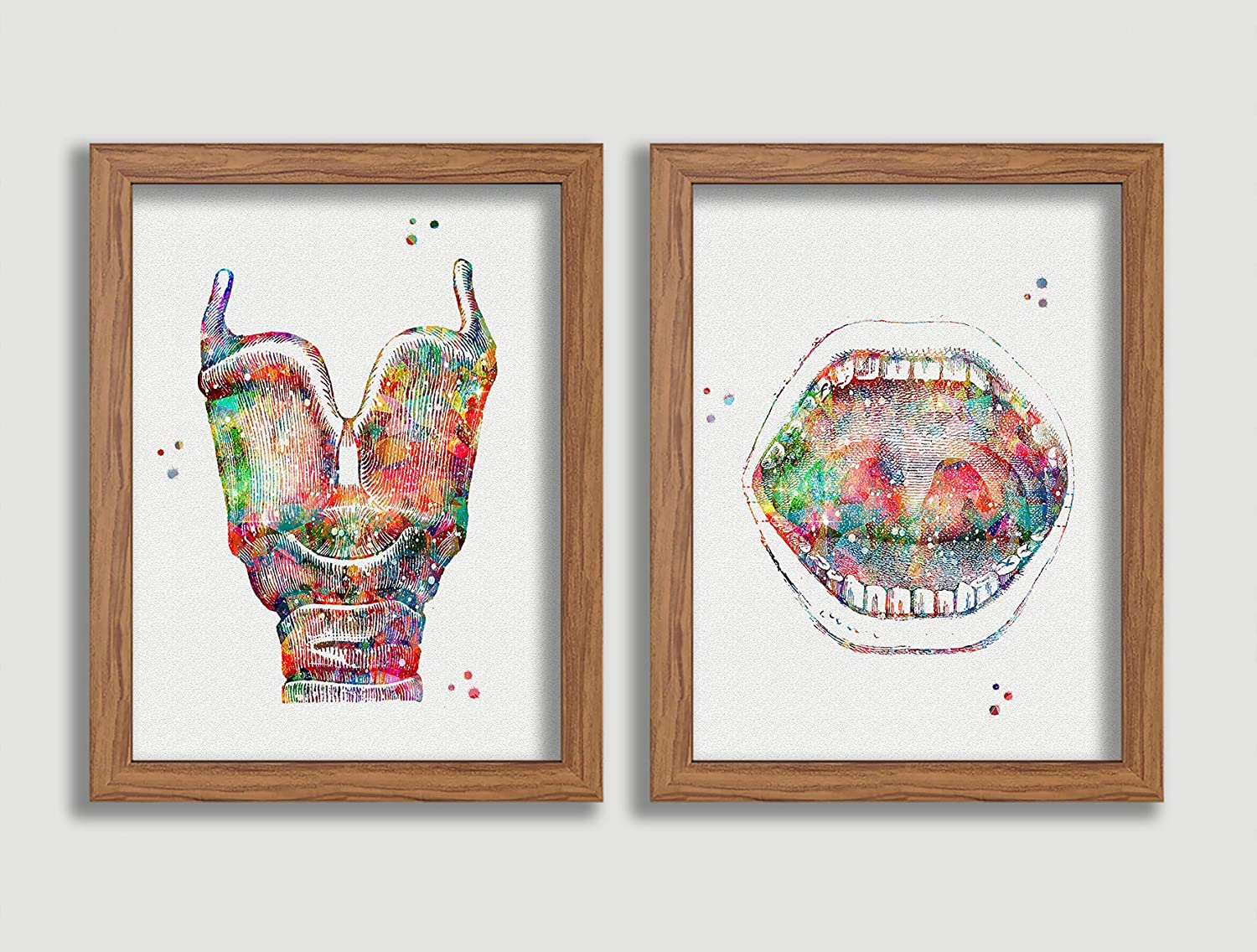 Larynx and Mouth Watercolor Art Print Anatomy Medical Wall Decor Vocal Box Wall Art Speech Therapy Artworks Larynx and Vocal Folds Audiology Home Office Decor Vocal Cords Poster