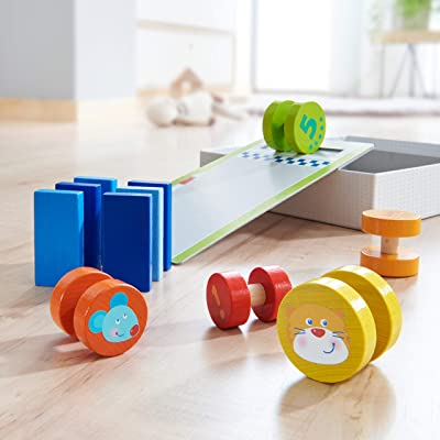 HABA Motor Skill Game High-Speed Roller Race - Simple Experiments with Momentum (Made in Germany): Toys & Games