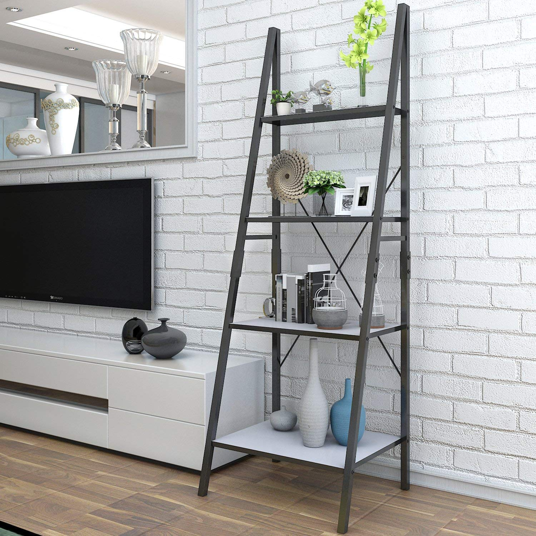 Lifewit Ladder Shelf Bookshelf 4 Tiers Bookcase,Plant Stand Storage Shelf for Garden,Storage Rack for Bathroom/Living Room,Metal Frame. 4335362790
