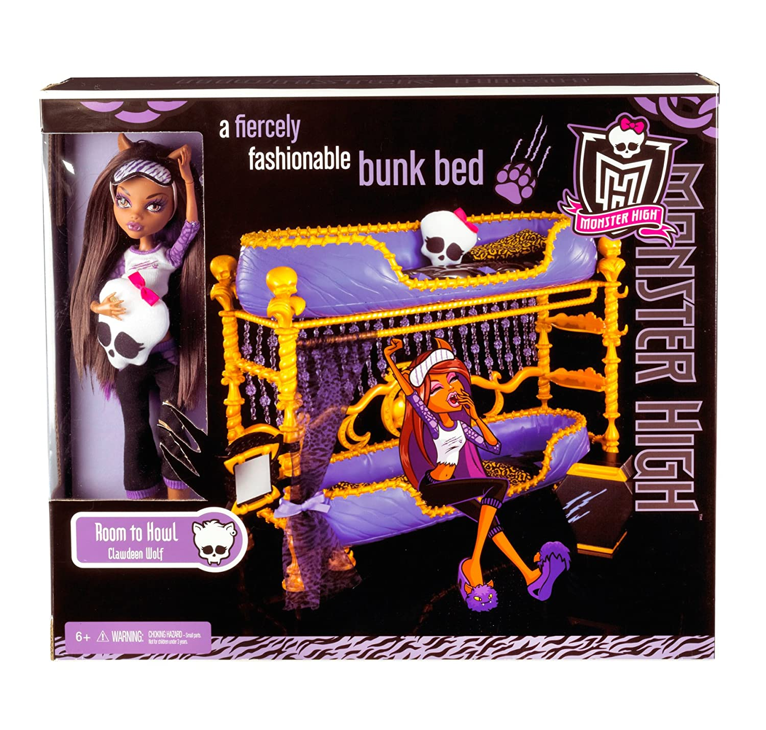 Amazon Monster High Dead Tired Clawdeen Wolf Doll And Bed