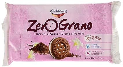 Galbusera ZeroGrano Frollino senza Glutine al Cacao e Crema Vaniglia 160 g