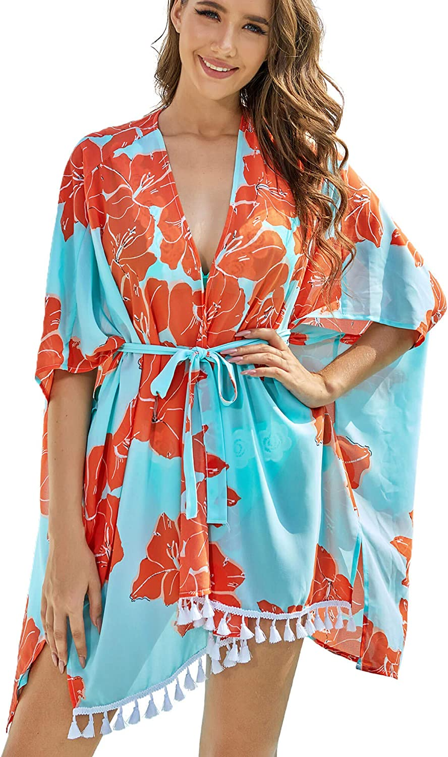 Rose Kimono Cardigan With Pockets  24K Gold Plated Rose Buttons  More Colors  Flowy  Kimono Sleeve  Cover-up  Jersey Sweater  Fashion