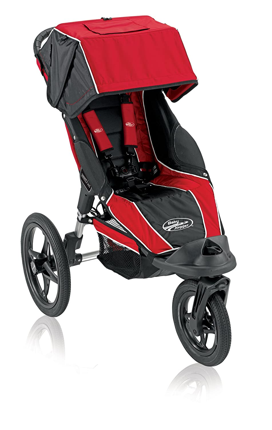 Baby Jogger Summit 360 Single Jogging Stroller Red Black Discontinued By Manufacturer